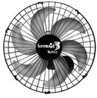 Ventilador de Parede 50CM Loren Sid Tufao 5747 (preto/cinza)