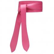 Cinto Faixa Obi de Couro  Rosa Pink  com Amarração