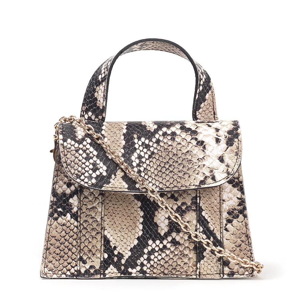 Bolsa Mini Bag de Couro Phyton Cobra