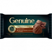 CHOCOLATE BARRA AO LEITE GENUINE 1KG CARGILL
