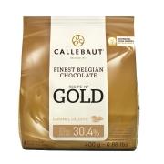 CHOCOLATE BRANCO COM CARAMELO GOLD 400G CALLEBAUT