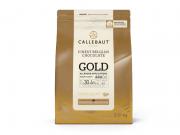 CHOCOLATE CALLETS BRANCO COM CARAMELO 30,4% GOLD 2,01KG CALLEBAUT