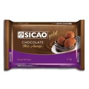 CHOCOLATE EM BARRA MEIO AMARGO 2,1KG SICAO