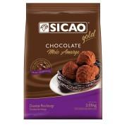 CHOCOLATE EM GOTAS MEIO AMARGO 2,05KG SICAO