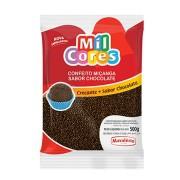 CONFEITO MIÇANGA SABOR CHOCOLATE MIL CORES 500G MAVALÉRIO