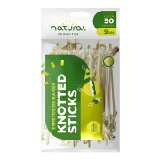 ESPETO BAMBU KNOTTED STICK 9CM C/50UN NATURAL