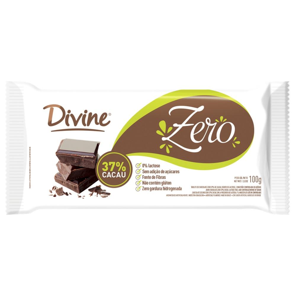 BARRA DE CHOCOLATE 37% CACAU  DIET SEM LACTOSE 100G