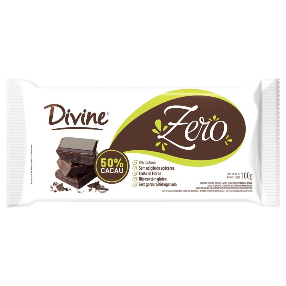 BARRA DE CHOCOLATE 50% CACAU DIET SEM LACTOSE 100G
