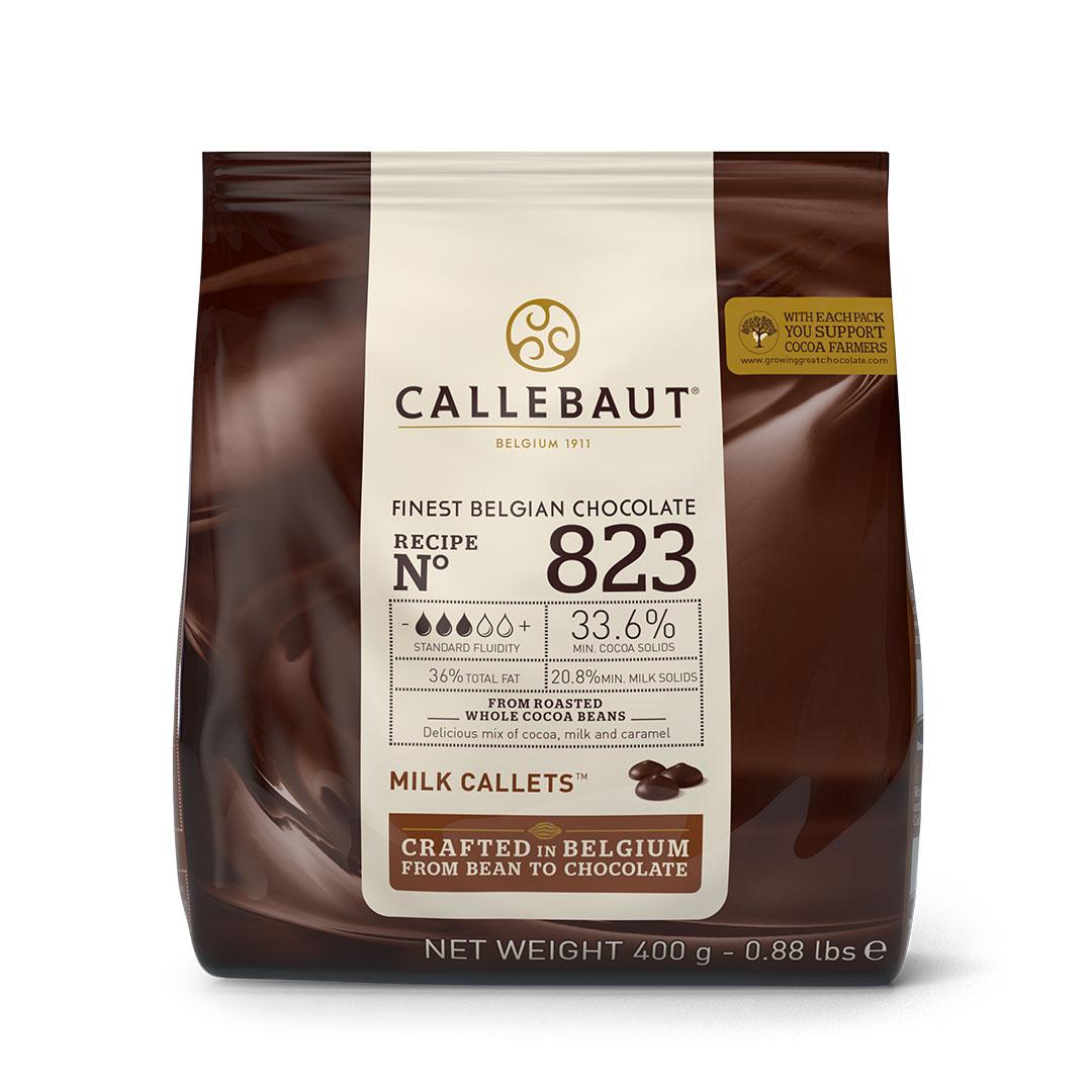 CHOCOLATE AO LEITE 33,6% 400G CALLEBAUT