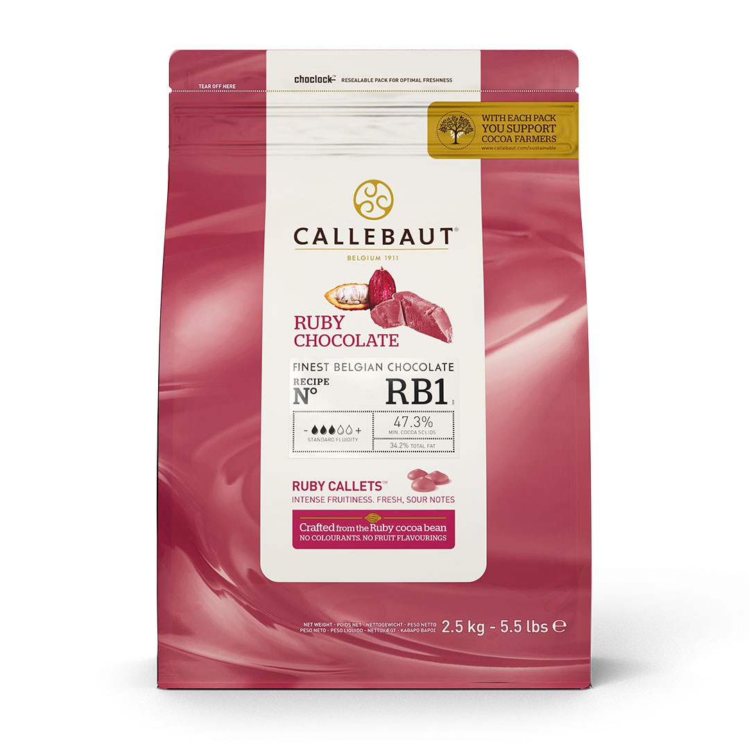 CHOCOLATE CALLETS RUBI 2,5KG CALLEBAUT