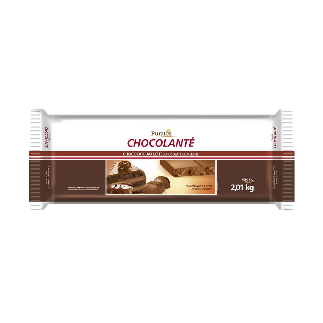 CHOCOLATE CHOCOLANTE AO LEITE BARRA 2,01KG PURATOS