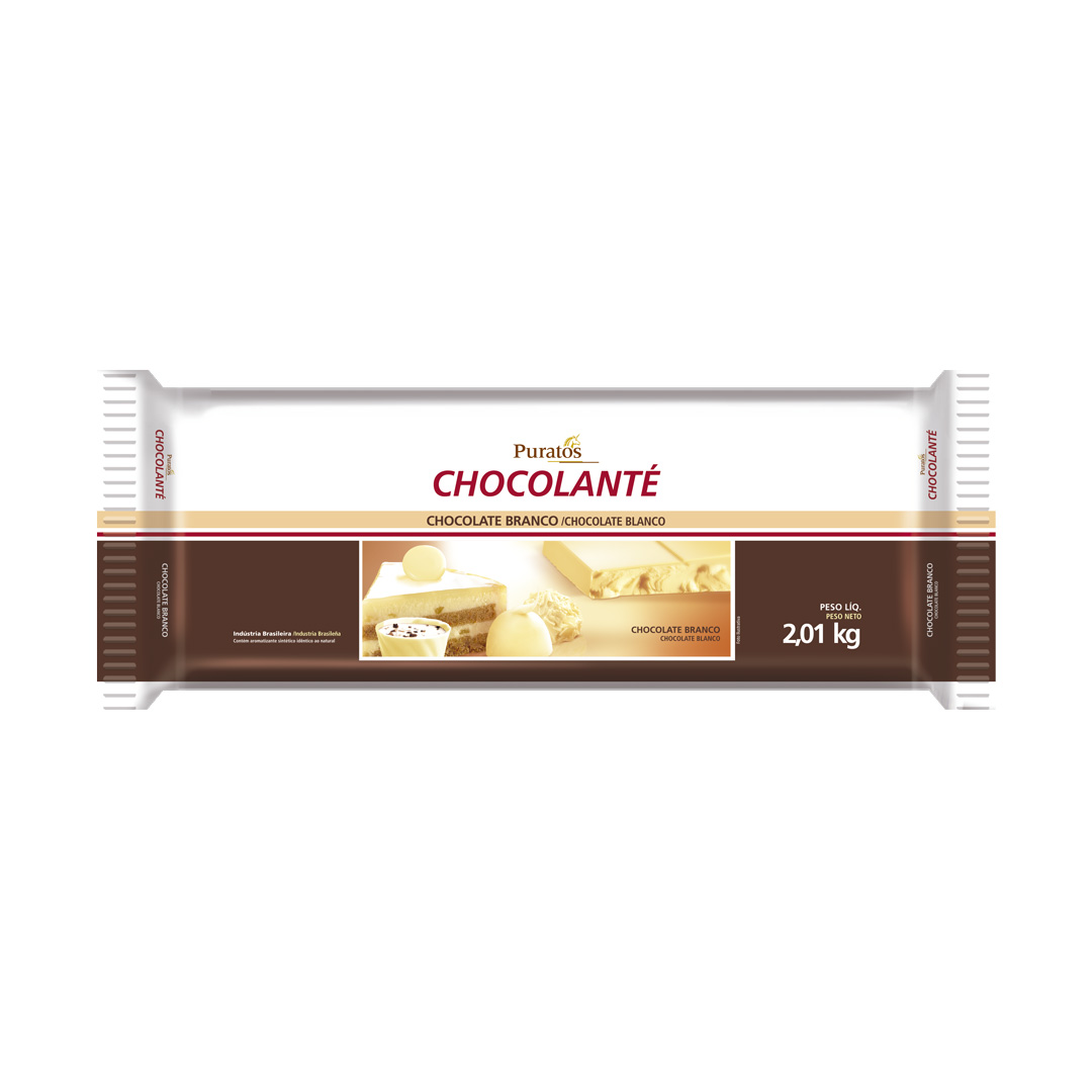CHOCOLATE CHOCOLANTE BRANCO BARRA 2,01KG PURATOS