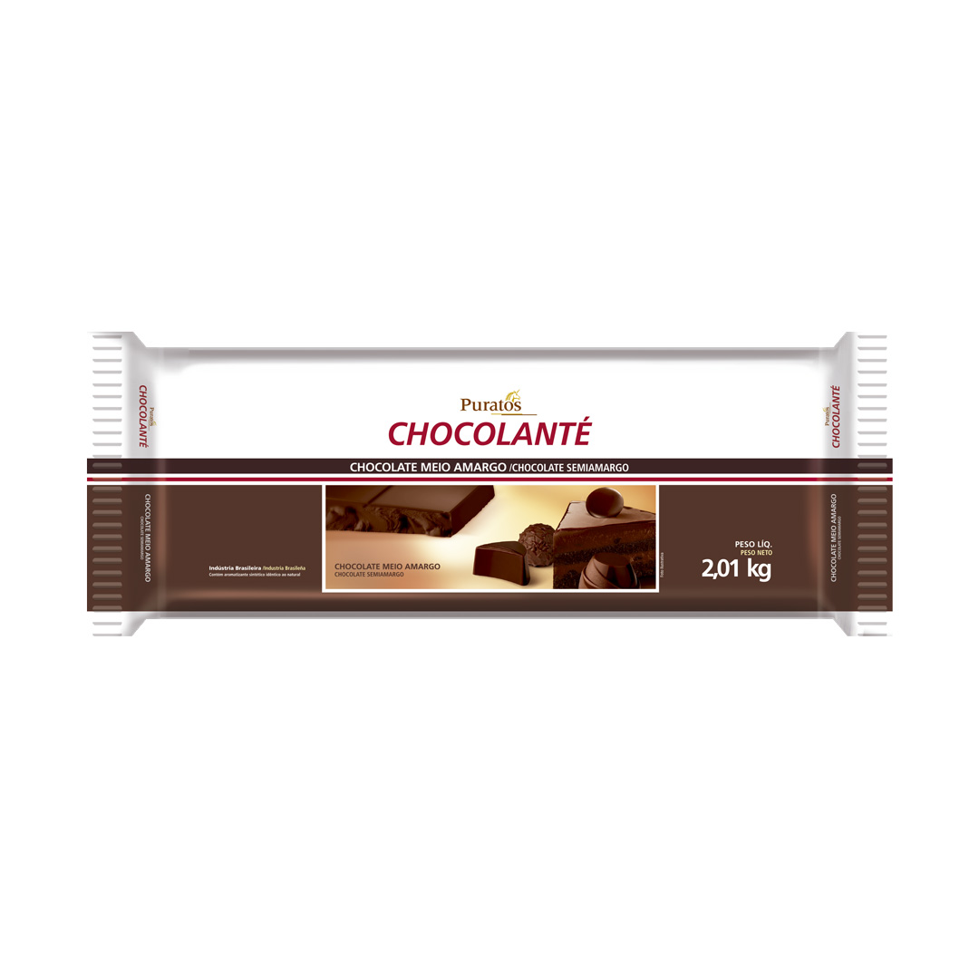 CHOCOLATE CHOCOLANTE MEIO AMARGO BARRA 2,01KG PURATOS