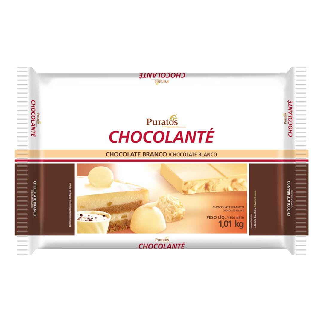CHOCOLATE EM BARRA CHOCOLANTÉ BRANCO BARRA 1,01KG PURATOS