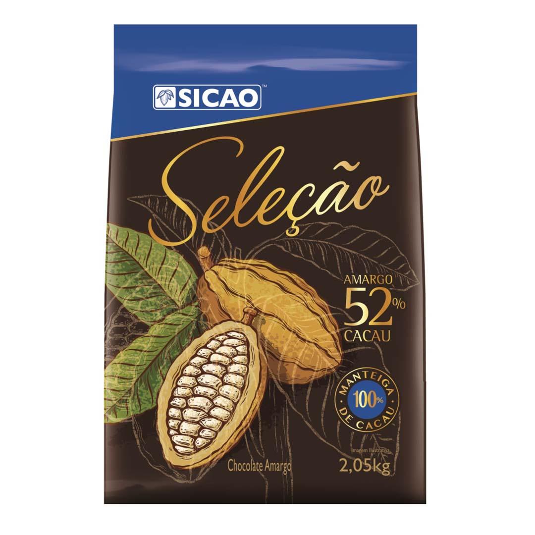 CHOCOLATE EM GOTAS SELEÇÃO AMARGO 52% 2.05KG SICAO
