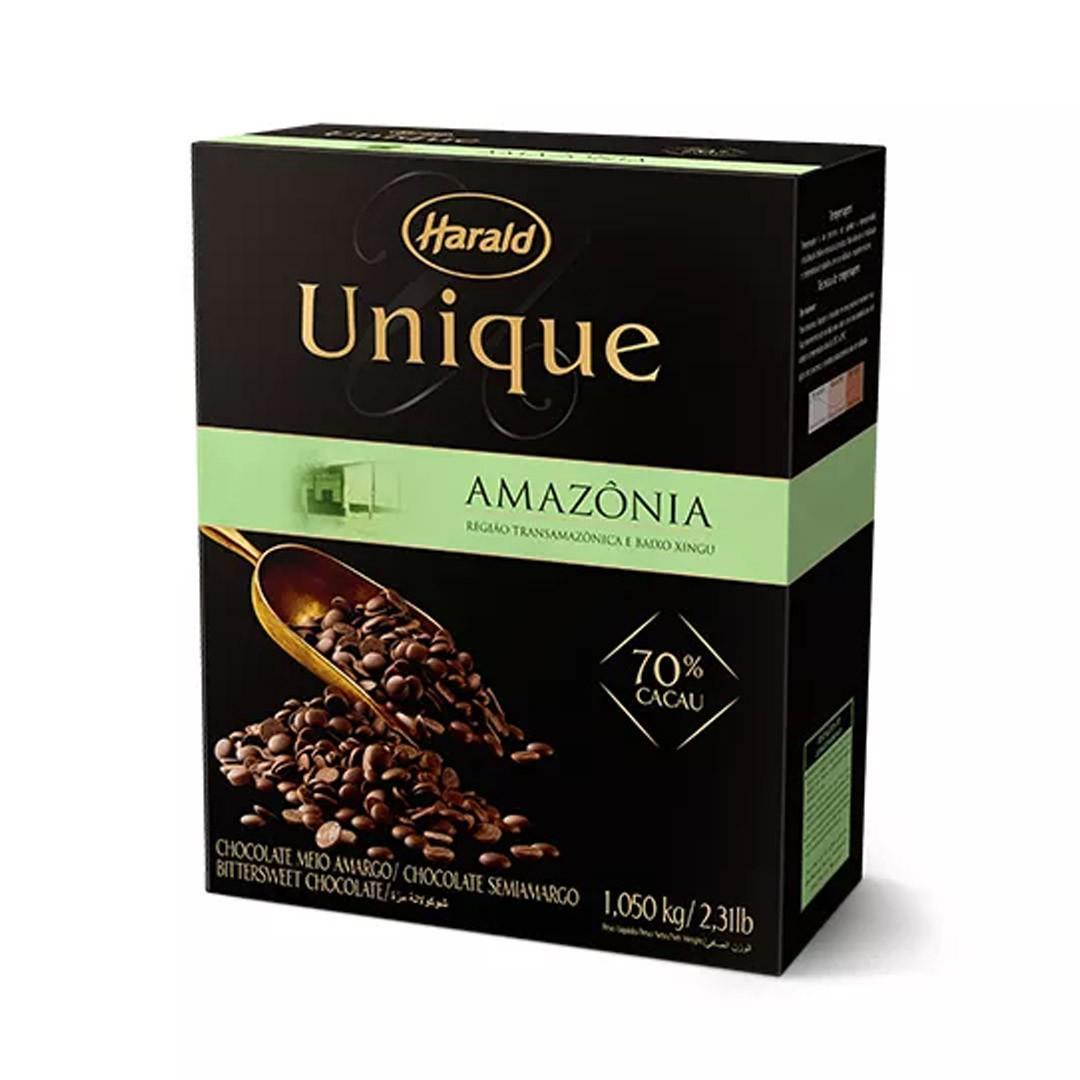 CHOCOLATE EM GOTAS UNIQUE AMAZONIA 70% 1,05KG HARALD