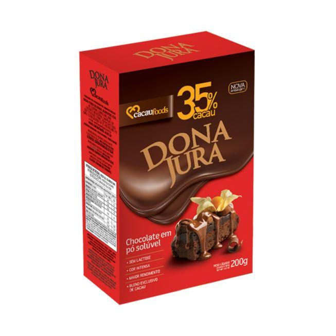 CHOCOLATE EM PÓ 35% CACAU 200G CACAU FOODS