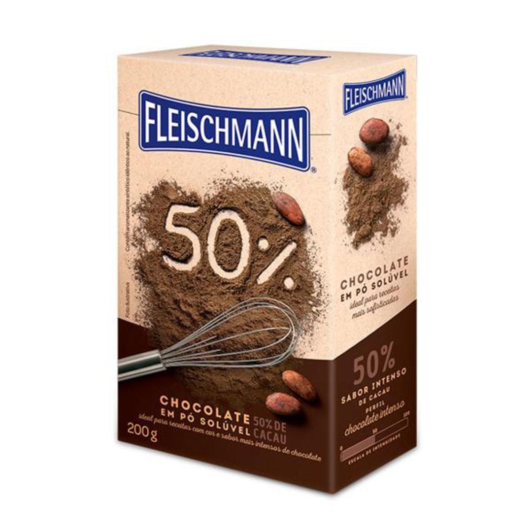 CHOCOLATE EM PÓ 50% 200G FLEISCHMANN