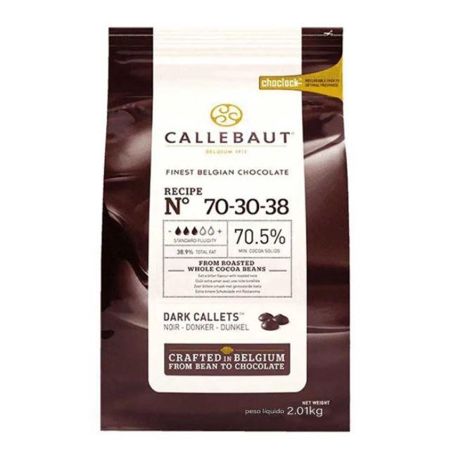 CHOCOLTE CALLETS AMARGO 70,5% 2,01KG CALLEBAUT