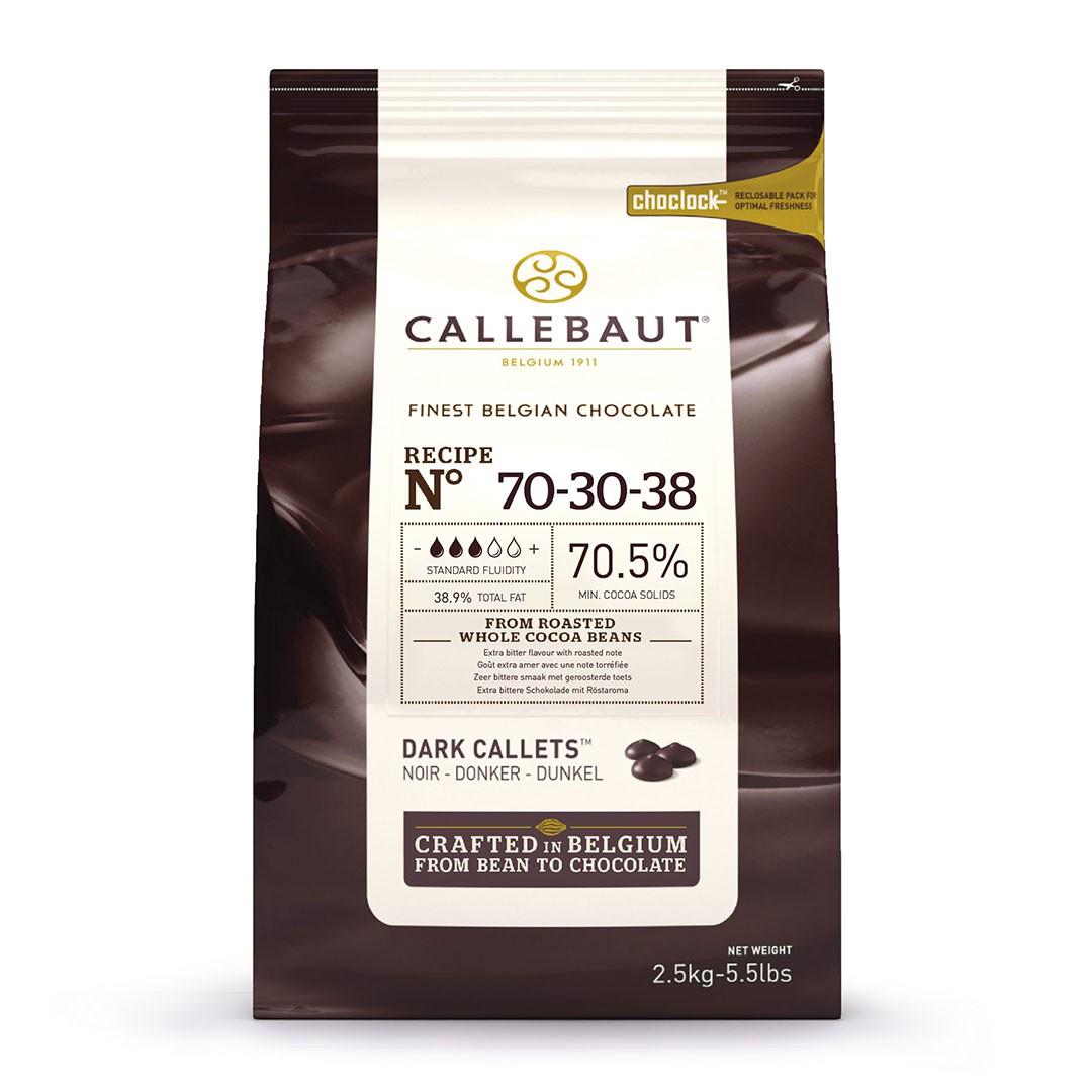 CHOCOLTE CALLETS AMARGO 70,5% 2,5KG CALLEBAUT