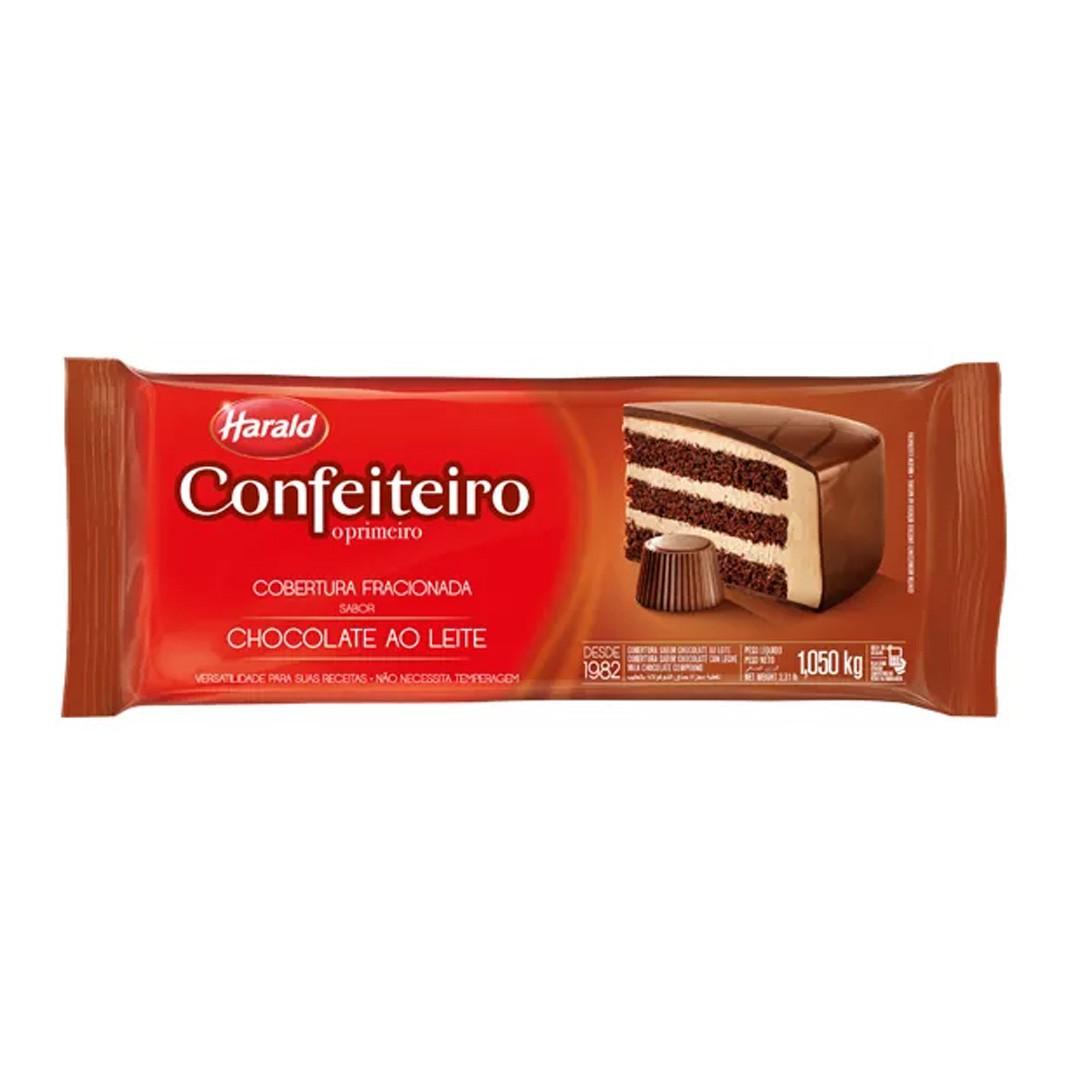 COBERTURA FRACIONADA EM BARRA CONFEITEIRO AO LEITE 1,01KG HARALD