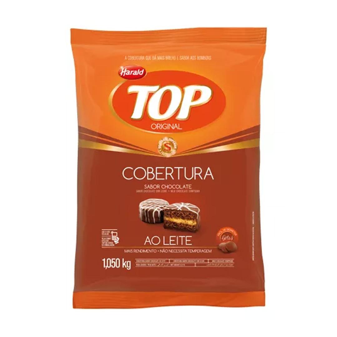 COBERTURA FRACIONADA EM GOTAS TOP AO LEITE 1,05KG HARALD