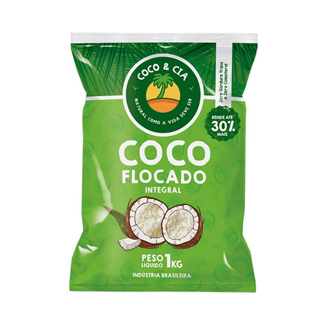 COCO RALADO INTEGRAL FLOCADO 1KG