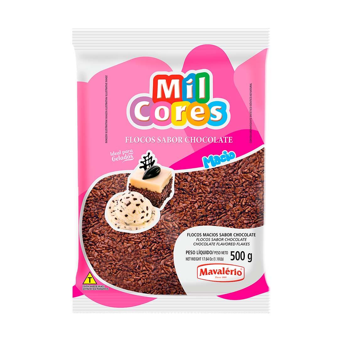 FLOCOS MACIO SABOR CHOCOLATE 500G MAVALÉRIO