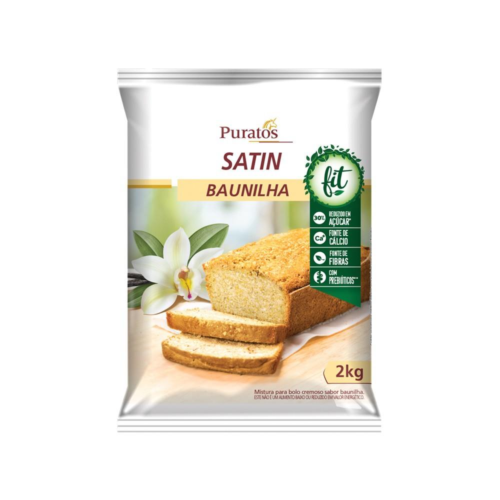 MISTURA PARA BOLO BAUNILHA FIT 2KG SATIN CREAM CAKE PURATOS