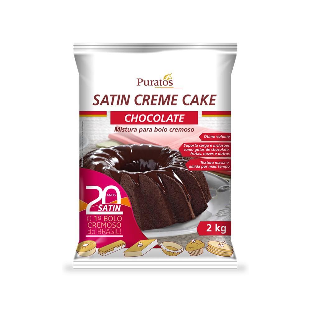 MISTURA PARA BOLO CHOCOLATE 2KG SATIN CREAM CAKE PURATOS