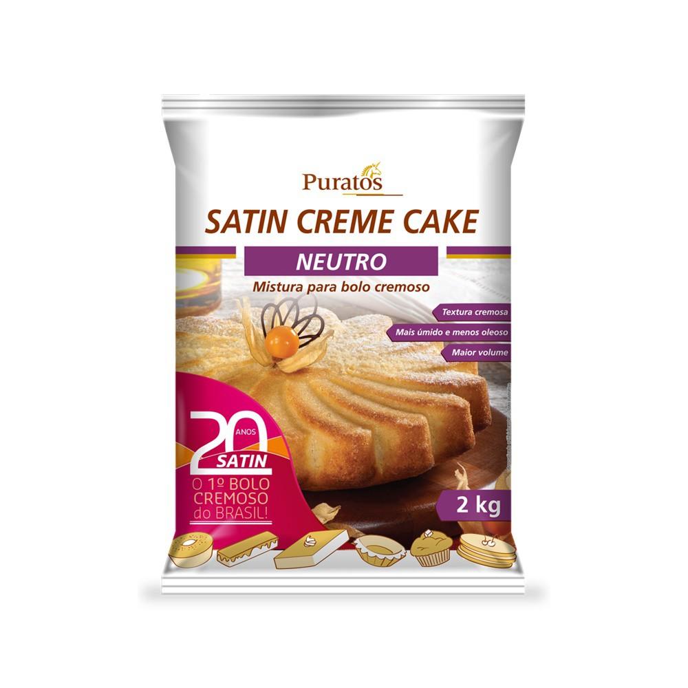 MISTURA PARA BOLO NEUTRO 2KG SATIN CREAM CAKE PURATOS