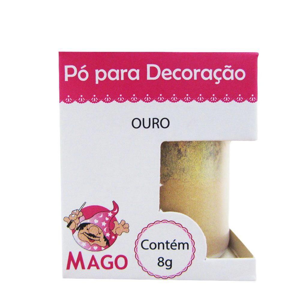 PÓ PARA DECORAÇÃO OURO C/8G MAGO