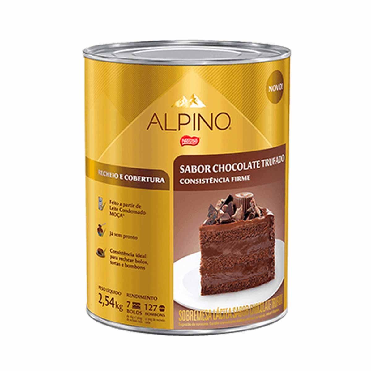 RECHEIO DE CHOCOLATE TRUFADO ALPINO 2,54KG NESTLÉ