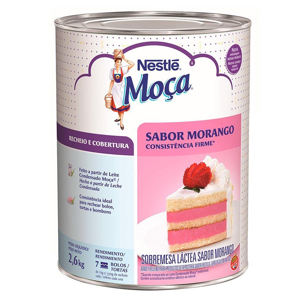 RECHEIO DE MORANGO MOÇA 2,6KG NESTLÉ