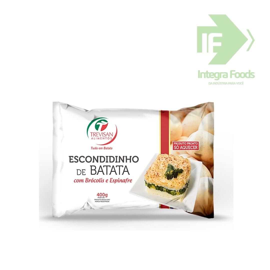 ESCONDIDINHO DE BATATA COM BRÓCOLIS E ESPINAFRE - 400g