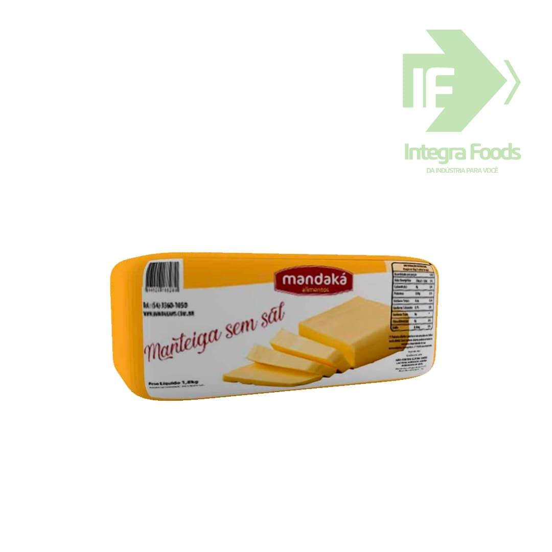 Manteiga sem sal 1,8kg creme leite