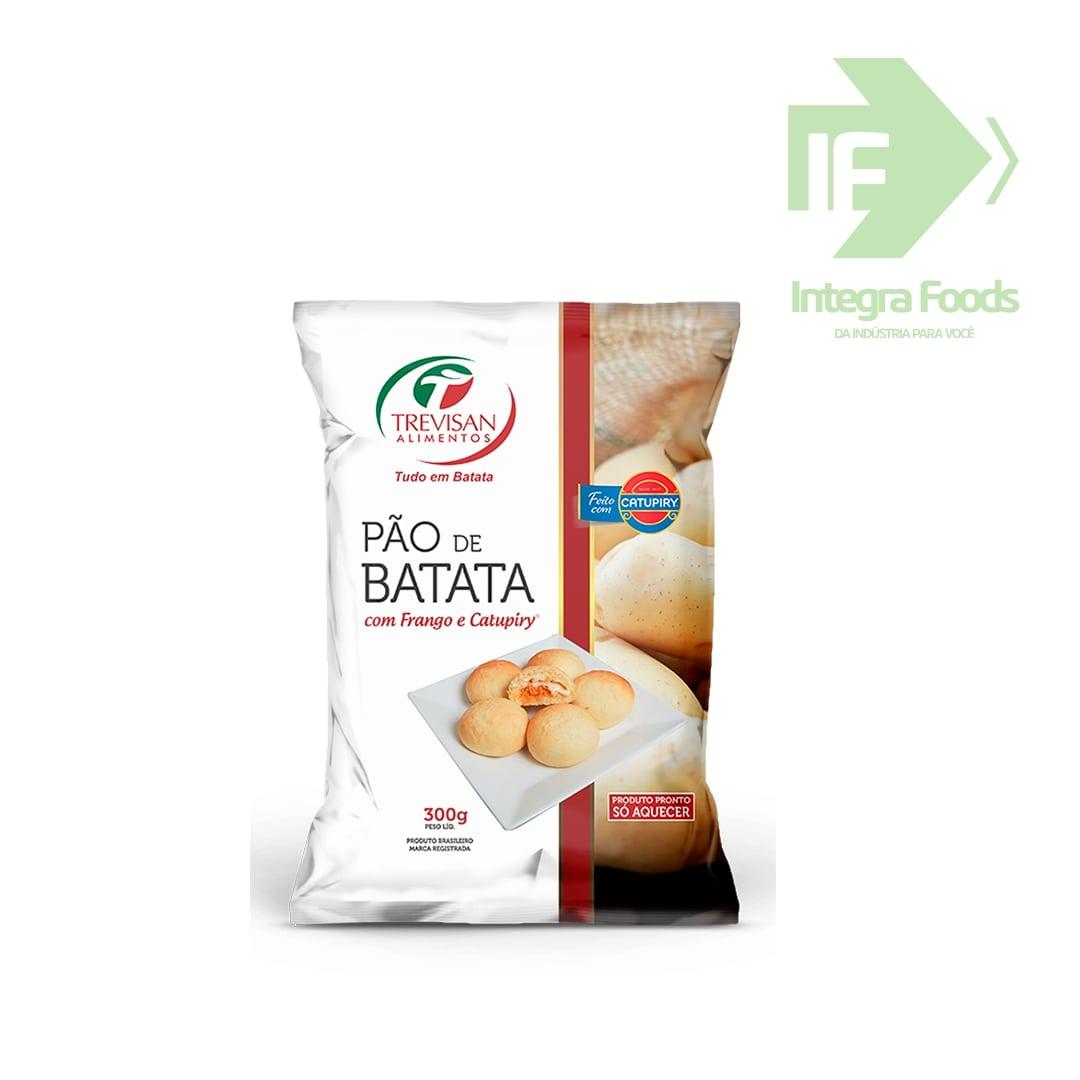 PÃO DE BATATA COM FRANGO E CATUPIRY 50g - PCT 300g