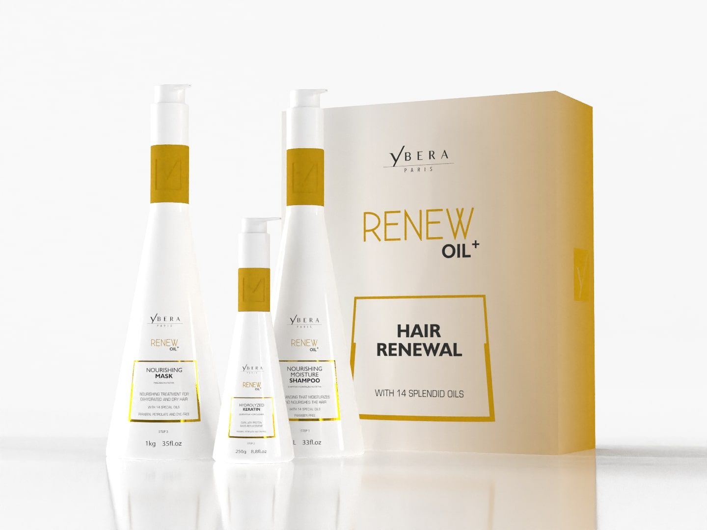 Kit Hidratação Nutritiva Renew Oil Ybera Paris
