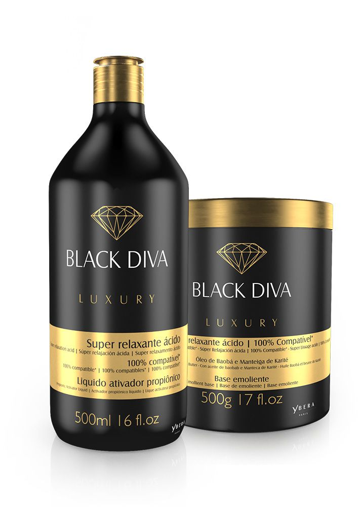 KIT RELAXAMENTO ÁCIDO - BLACK DIVA (500g + 500ml)