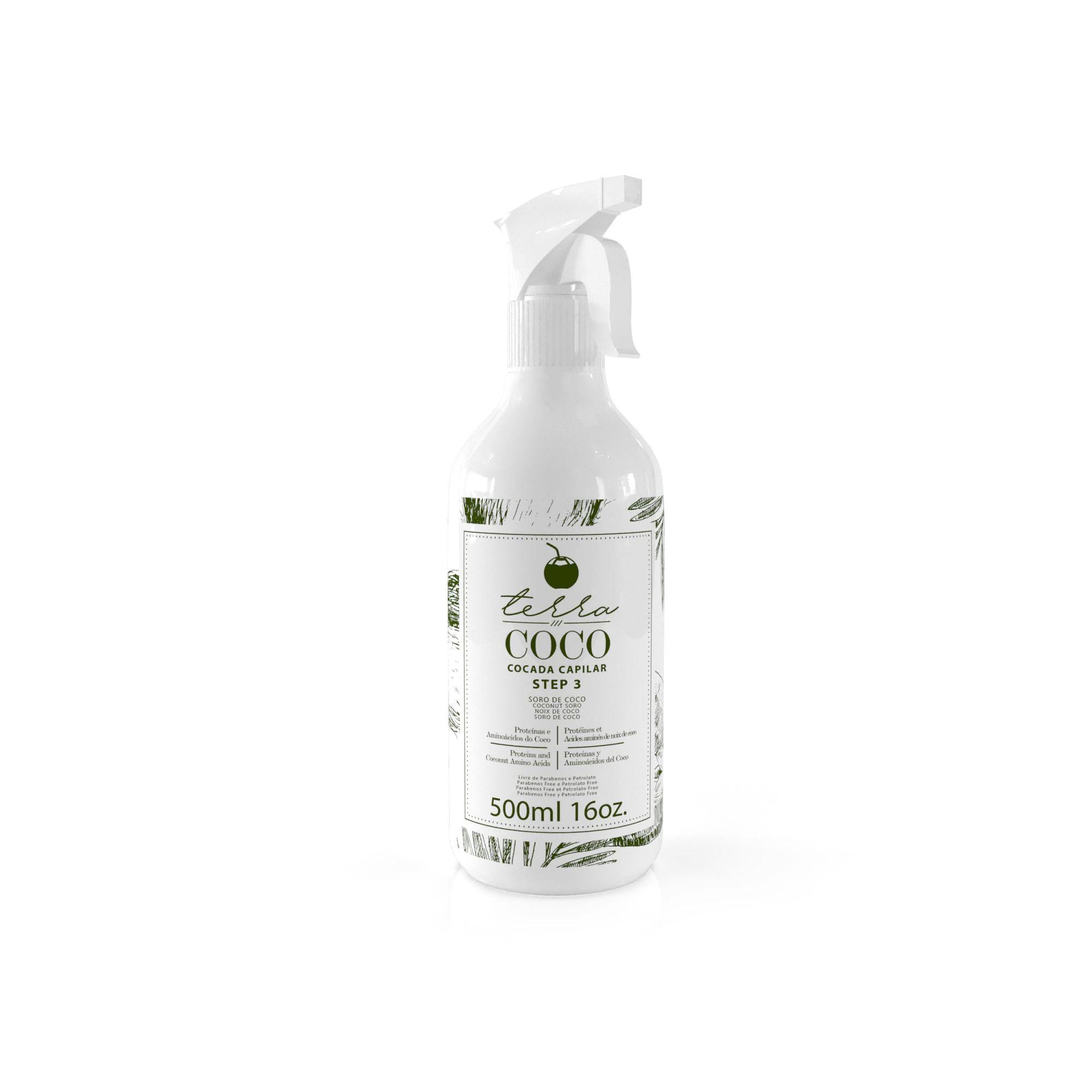 Terra Coco - Cocada Capilar - Soro De Coco 500ml