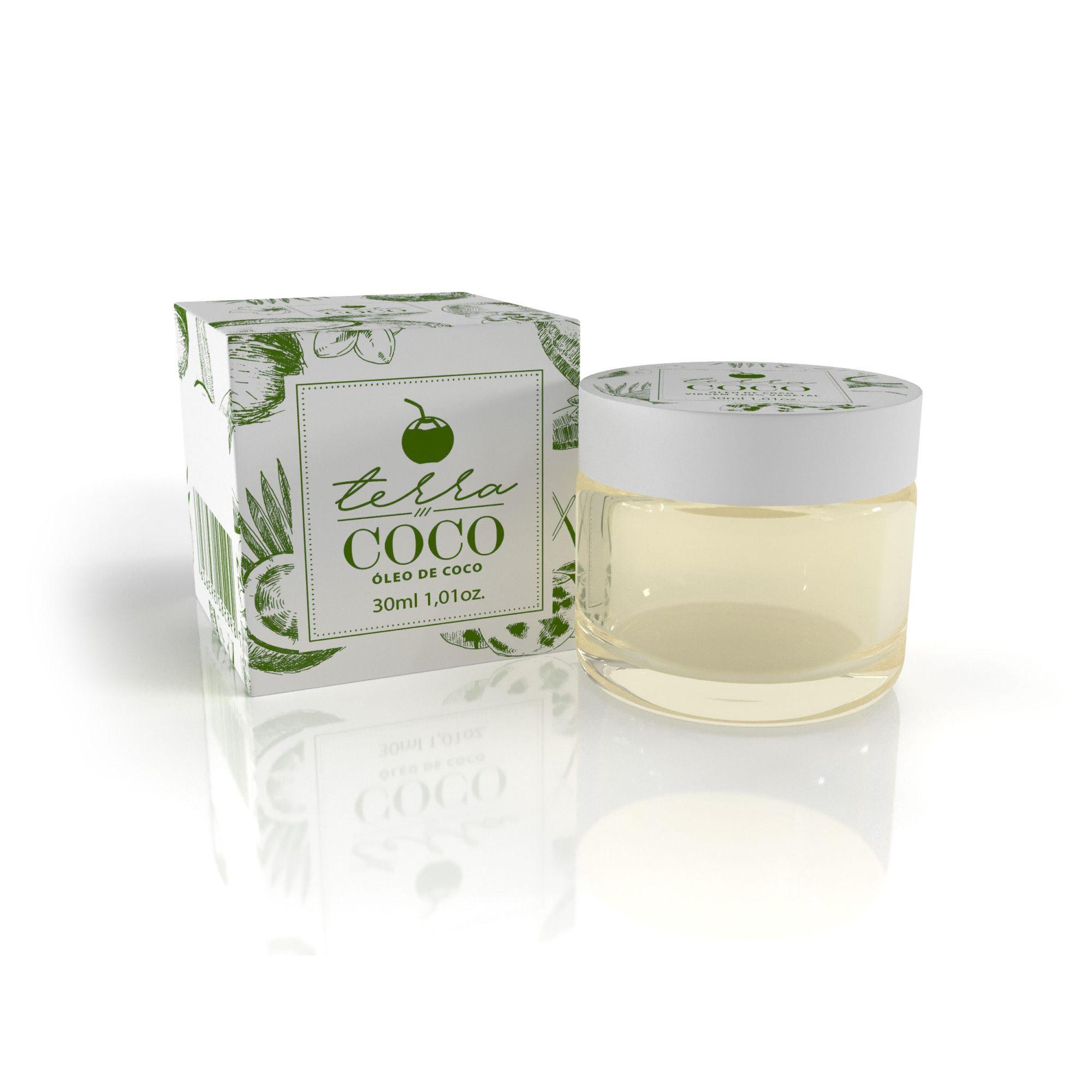 TERRA COCO - FINALIZADORES - OLEO DE COCO VIRGEM 100% VEGETAL 30ML