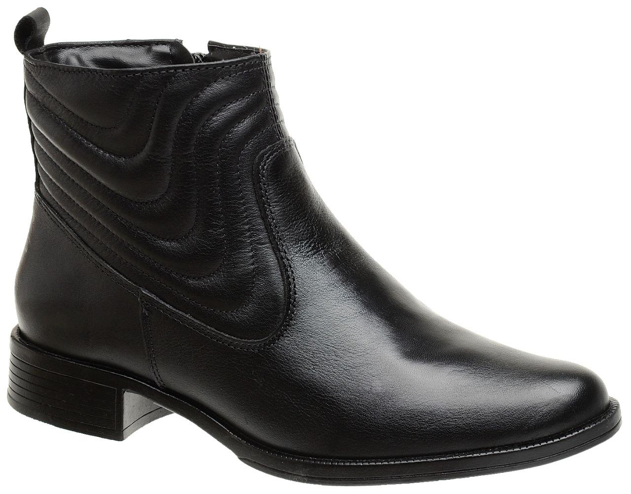 Bota clássica ankle boot com detalhe