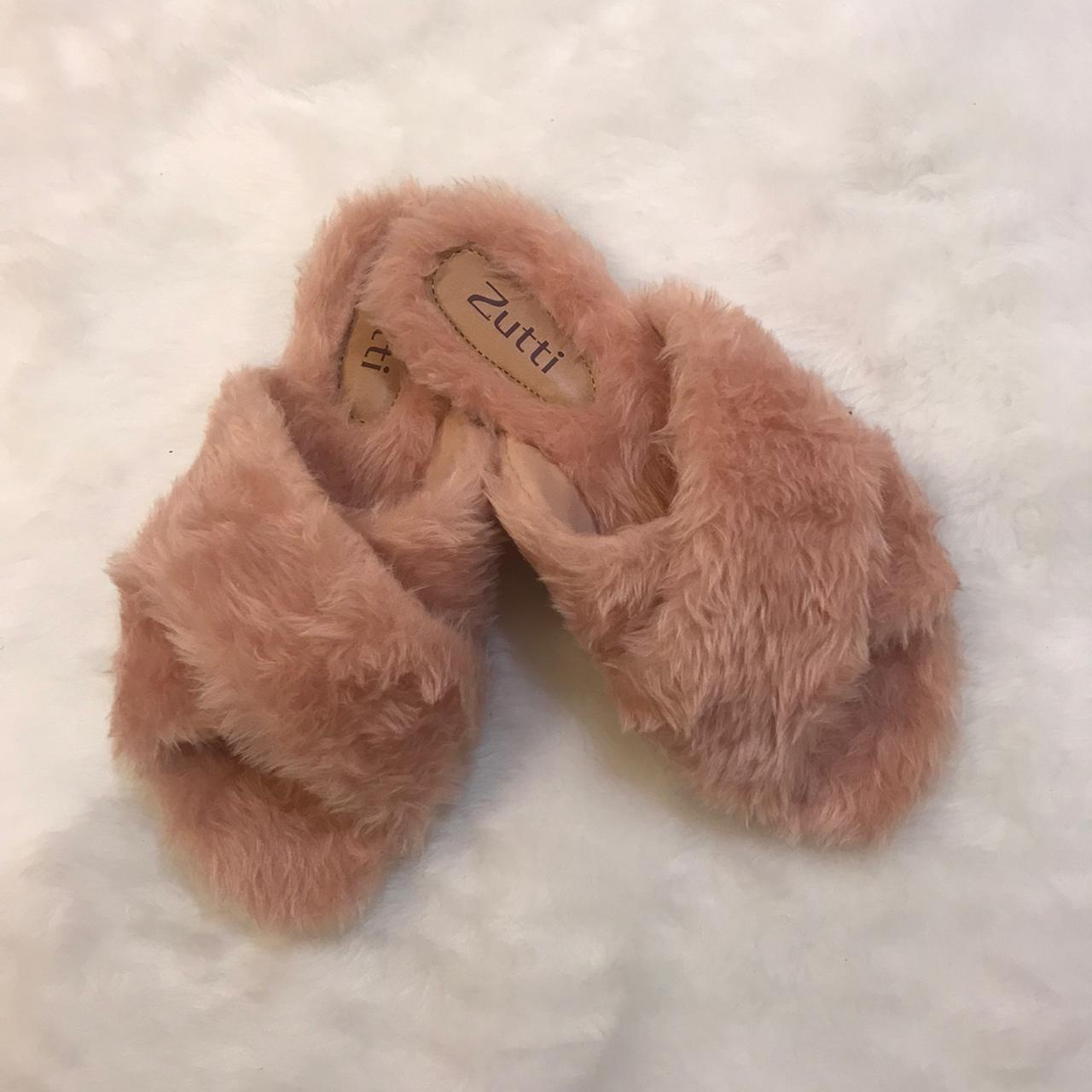 Chinelo conforto forrado em lã