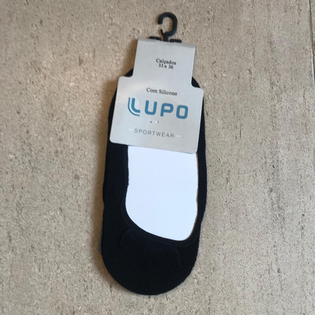 Meia sapatilha com silicone