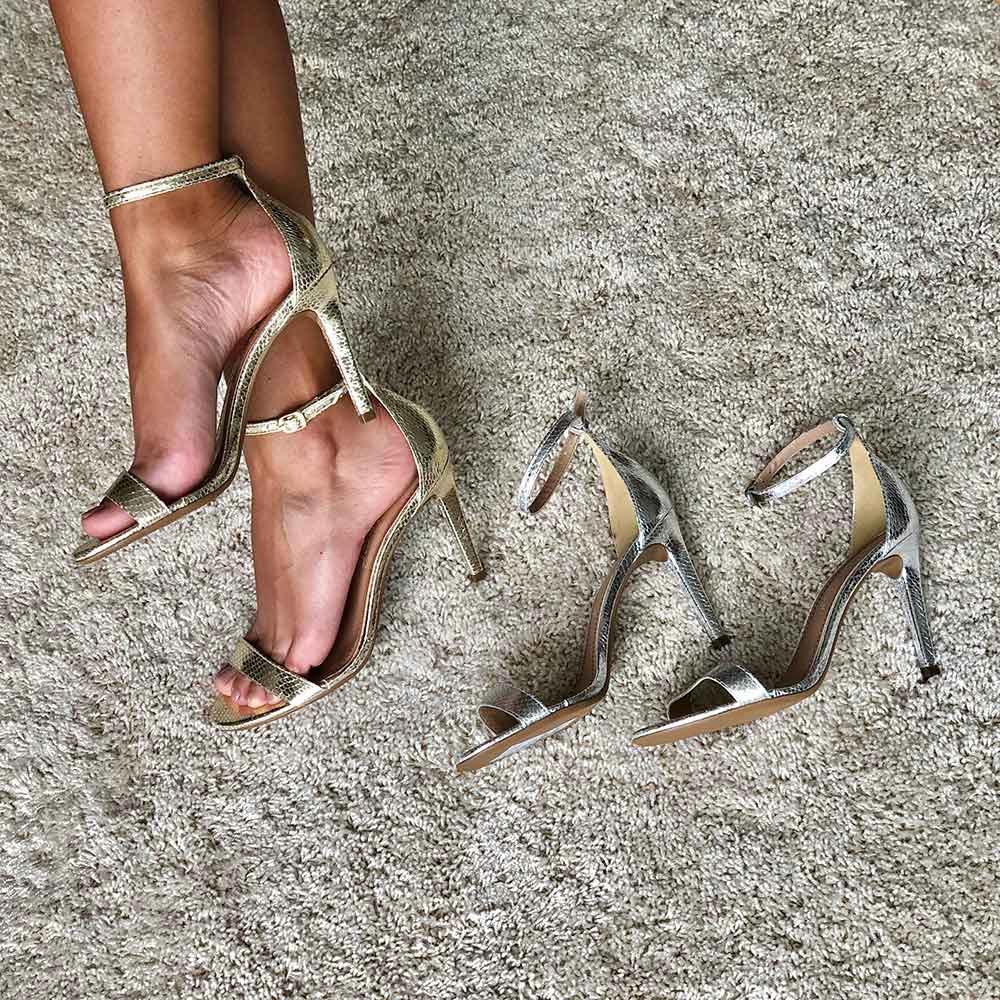 Sandália Amalfi salto fino médio