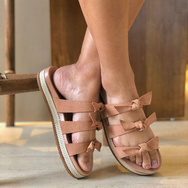 Sandália  birken confort laços