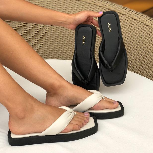 Sandália Chinelo conforto com tiras soft