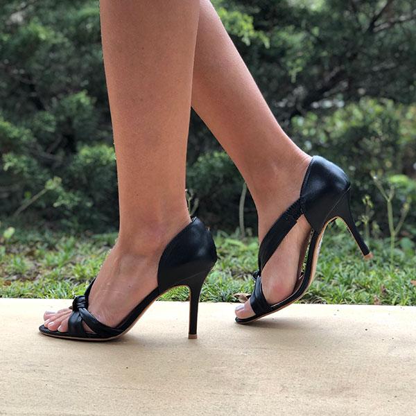Sandália Clássica Salto Fino Alto