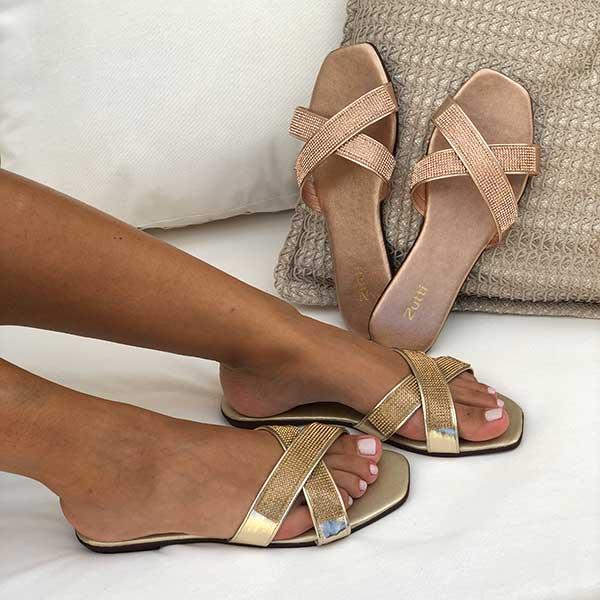 Sandália rasteira chinelo