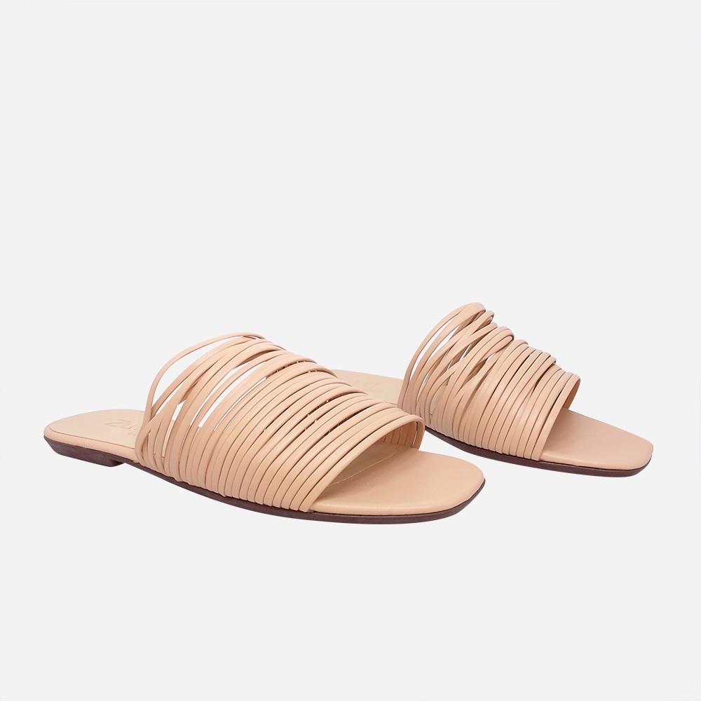 Sandália Rasteira Chinelo com tiras finas